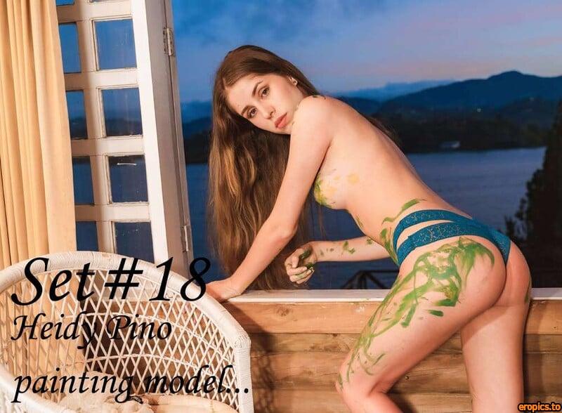 GeorgeModels Heidy Pino - Set 18-1 - painting model... - 120 Photos - 6000px
