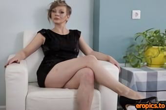 AuntJudys Yana Tight Black Dress Upskirt & Pussy Play - 172 Photos - Feb 27, 2021