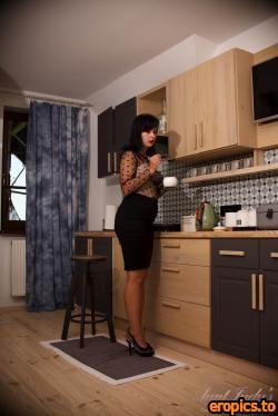 AuntJudys Wanilianna Kitchen Stockings Strip & Pussy Play - 150 Photos - 6000px - Oct 18, 2020