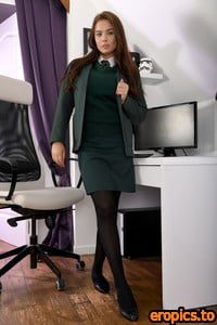 College-Uniform - Kay - Green Uniform and Stockings - 116 mb - 141 pics - Released 23/11/20