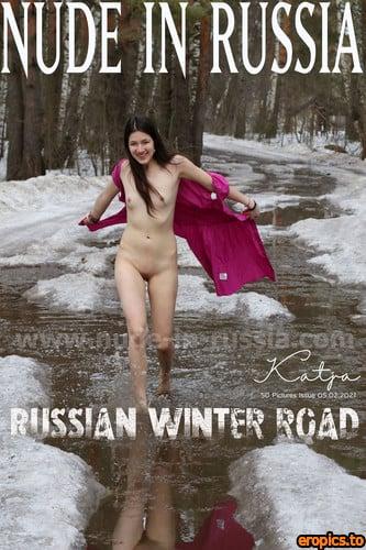 Nude-In-Russia Katja P 2 - Russian winter Road - Set 2 - 50 Photos - Feb 05, 2021