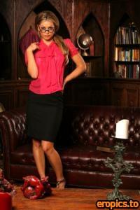 Penthouse Heather Vandeven - Black Pink Blouse & Black Skirt - x57 - 4000px