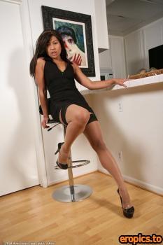 AuntJudys Max Mikita - #Black Dressed Asian Milf - 113x