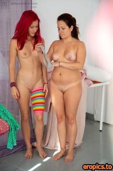 AbbyWinters Danna & Valeria - Feet play - Dressing Room 20 Jan, 2021 x84
