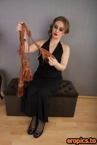 AuntJudys Yulenka Elegant Black Dress & Rope Play - 8256px - 194 Photos (06.13.2021)