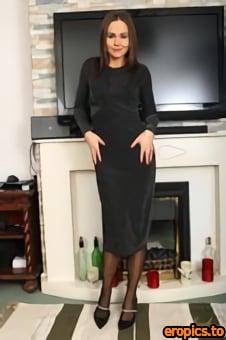 AuntJudys Tina Kay - Elegant Tina Lingerie & Stockings Strip & Masturbation - 154 photos - Mar 14, 2021