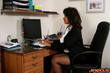 BustyBrits Danica Collins - Secretary 146 pics